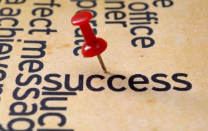 Push pin on success text